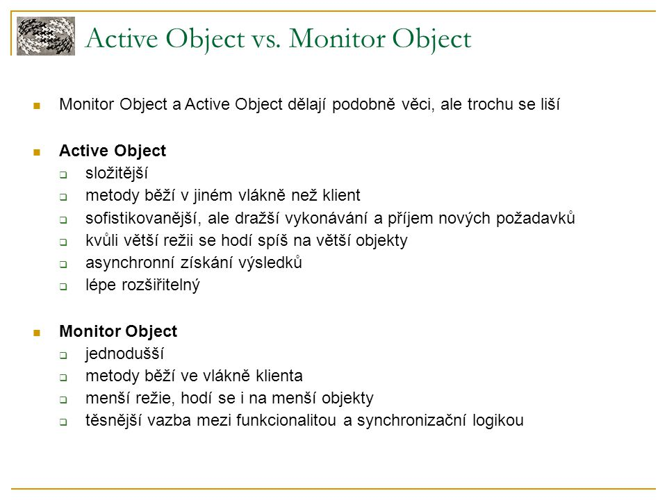 Active Object vs. Monitor Object