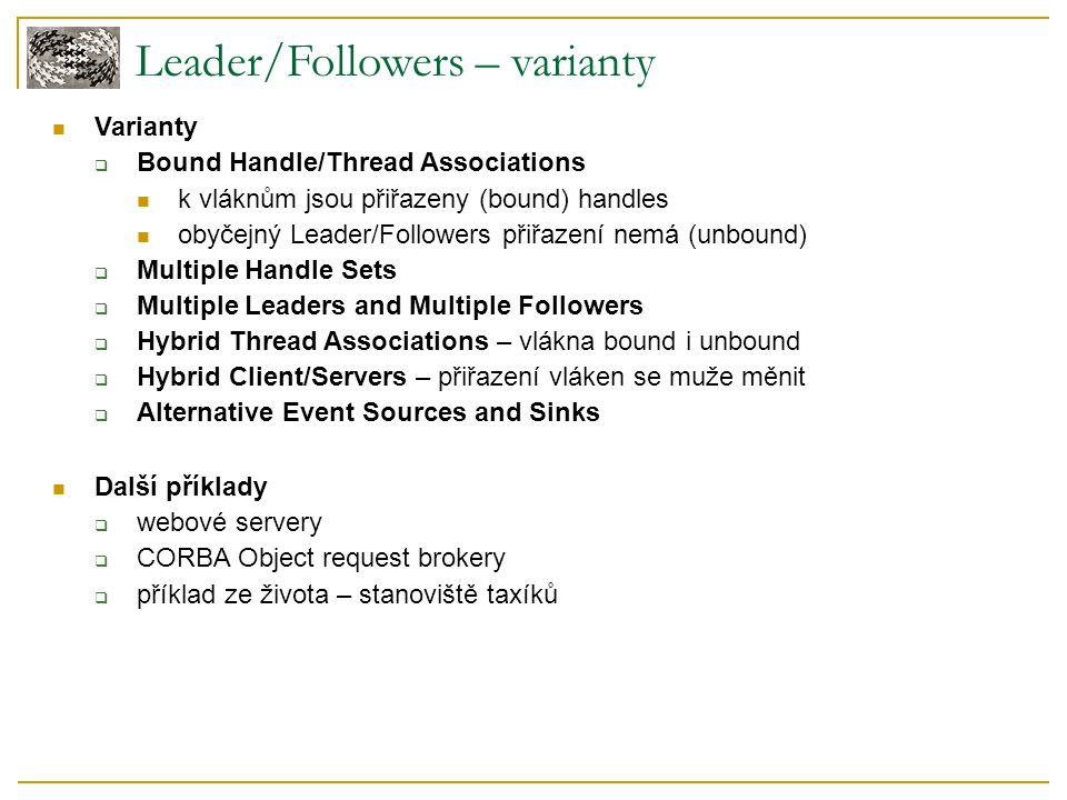 Leader/Followers – varianty