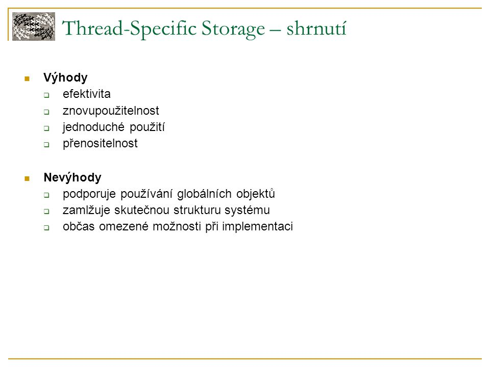 Thread-Specific Storage – shrnutí