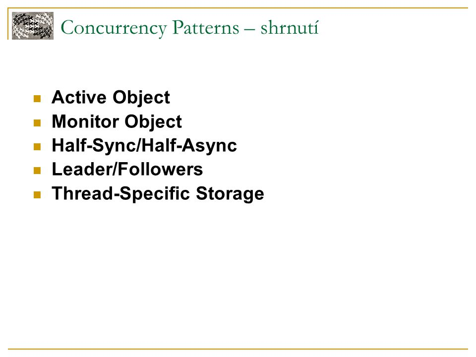 Concurrency Patterns – shrnutí