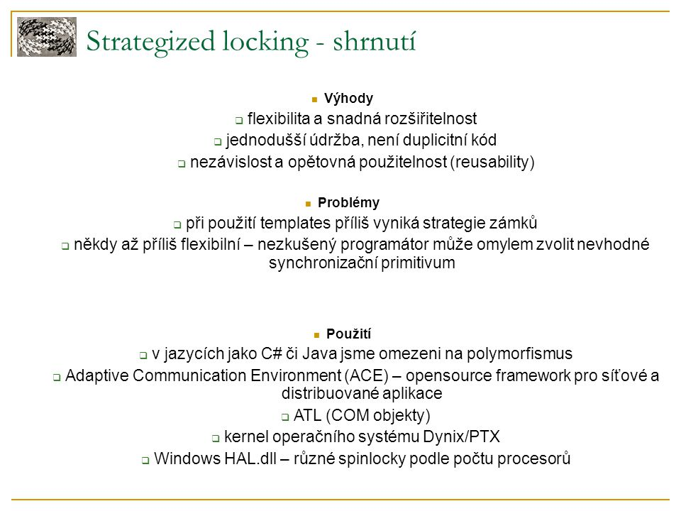 Strategized locking - shrnutí