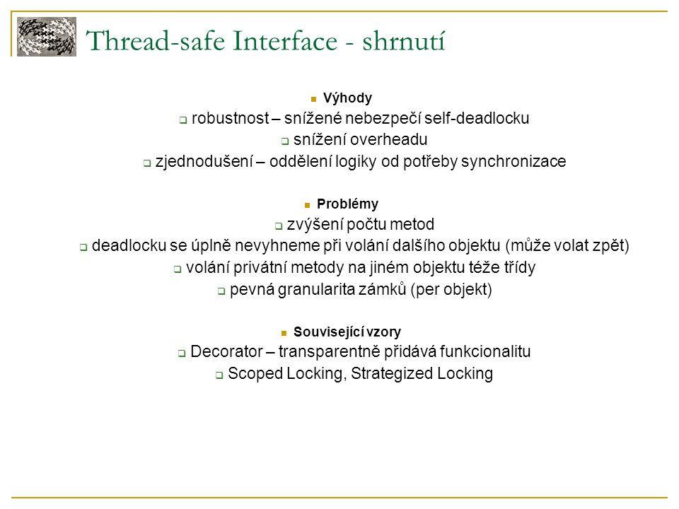 Thread-safe Interface - shrnutí