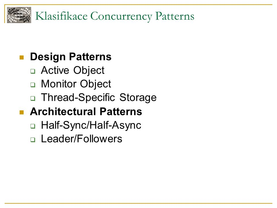 Klasifikace Concurrency Patterns