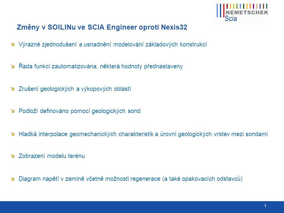 Původní zadání v NEXISu a nové ve SCIA Engineer