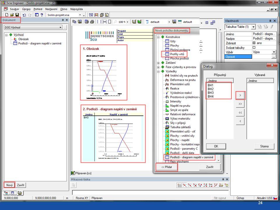 ChapterMaker pro diagram napětí v zemině (opakovací grafy)