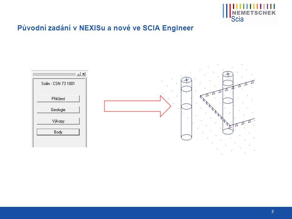 Zadání podloží SOILIN ve SCIA Engineer