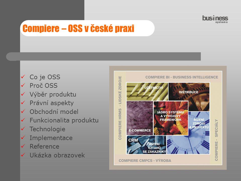 Compiere – OSS v české praxi
