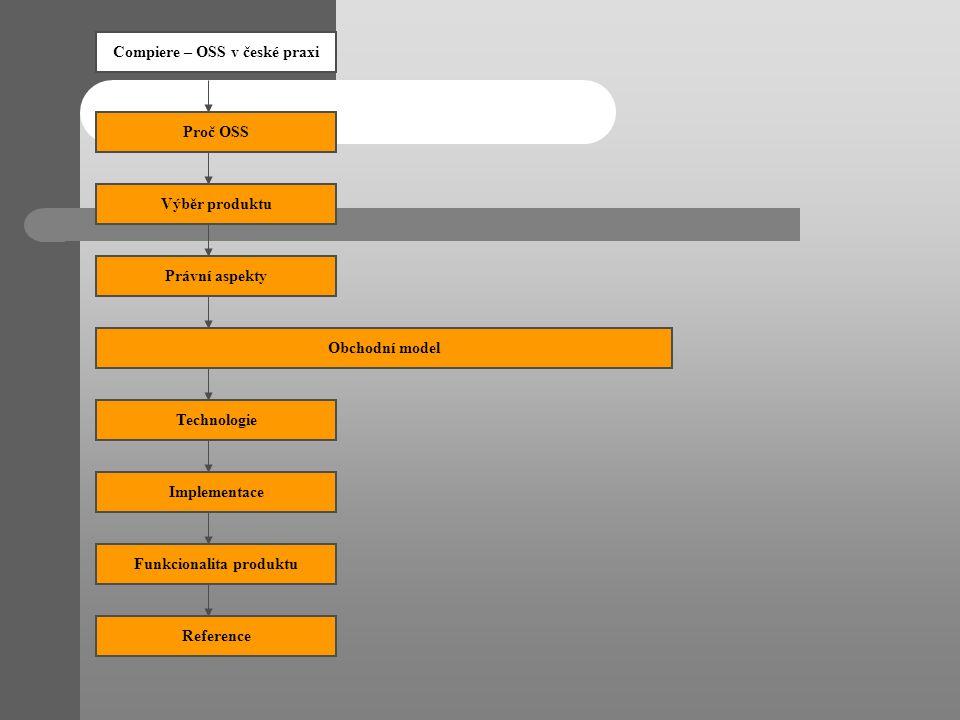 Compiere – OSS v české praxi Funkcionalita produktu