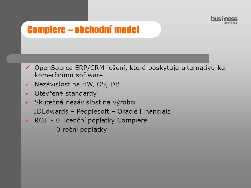 Compiere – obchodní model