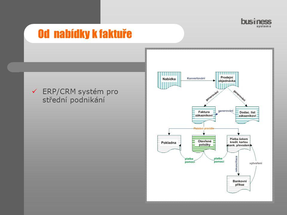 Od nabídky k faktuře ERP/CRM systém pro střední podnikání