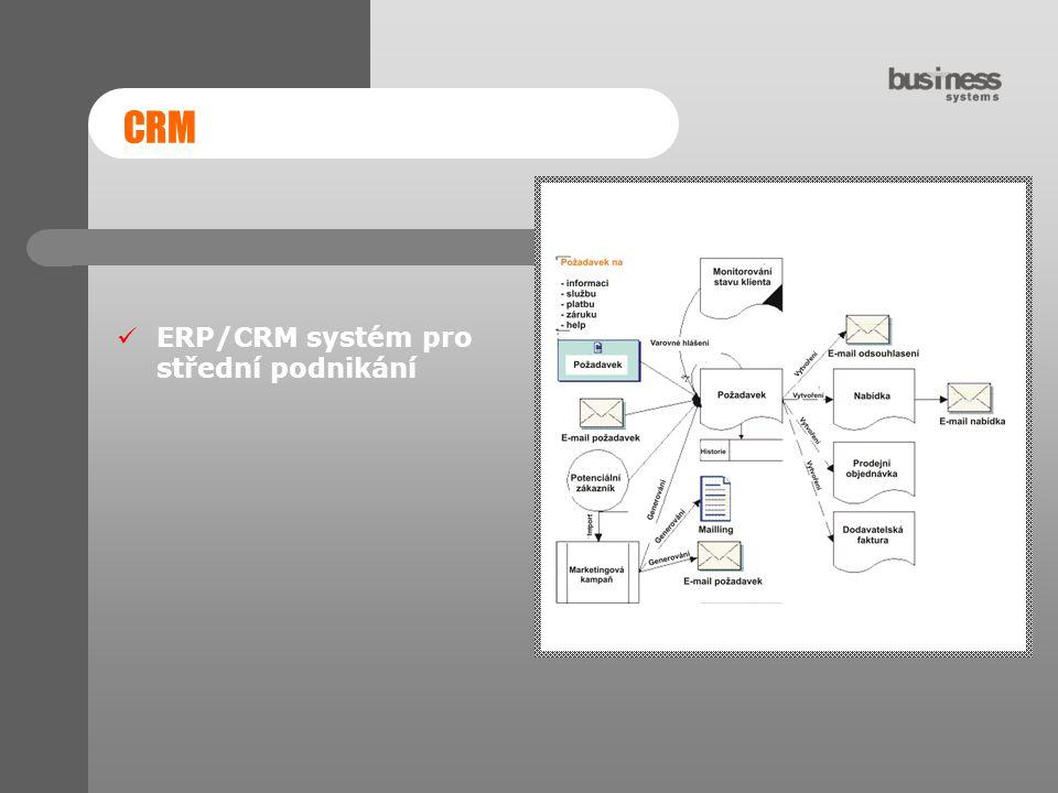 CRM ERP/CRM systém pro střední podnikání