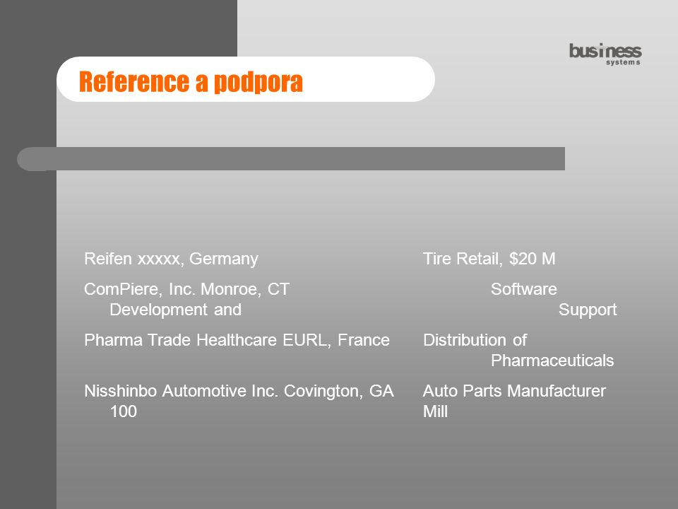 Reference a podpora Reifen xxxxx, Germany Tire Retail, $20 M