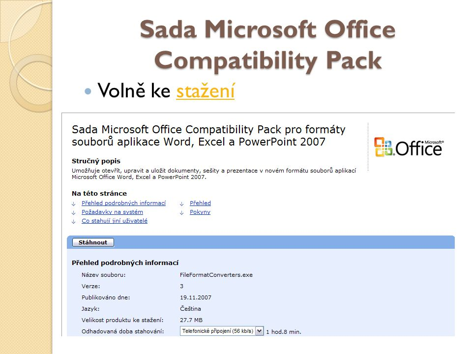 Sada Microsoft Office Compatibility Pack