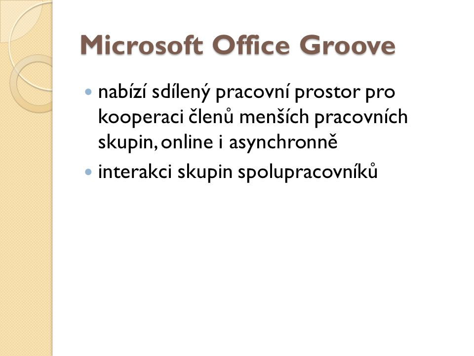 Microsoft Office Groove