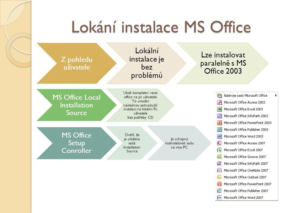 Lokání instalace MS Office