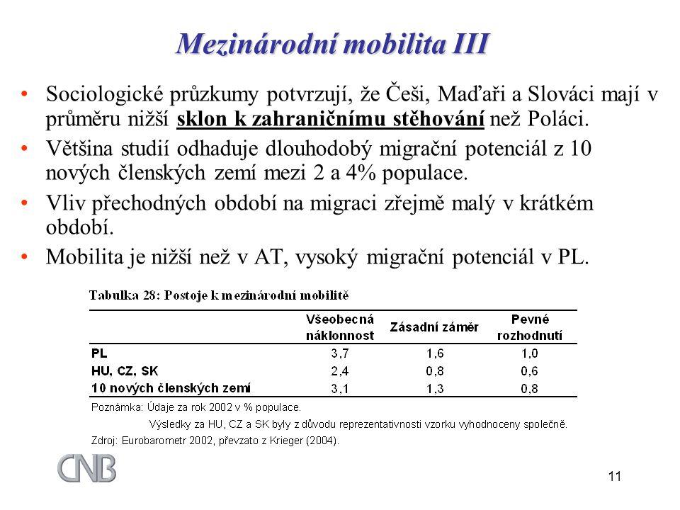 Mezinárodní mobilita III