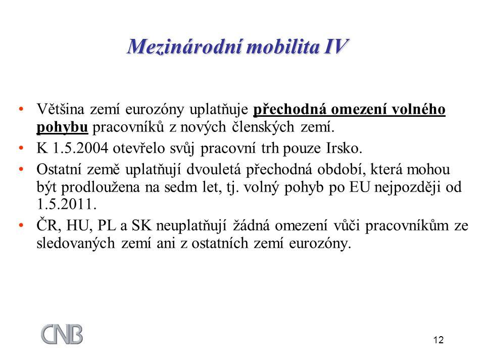 Mezinárodní mobilita IV
