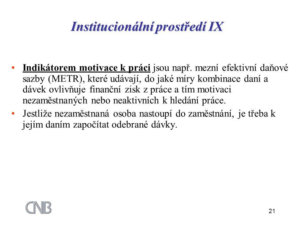 Institucionální prostředí IX
