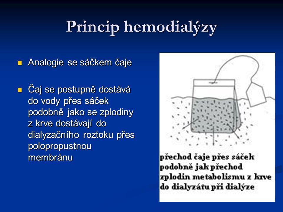 Princip hemodialýzy Analogie se sáčkem čaje