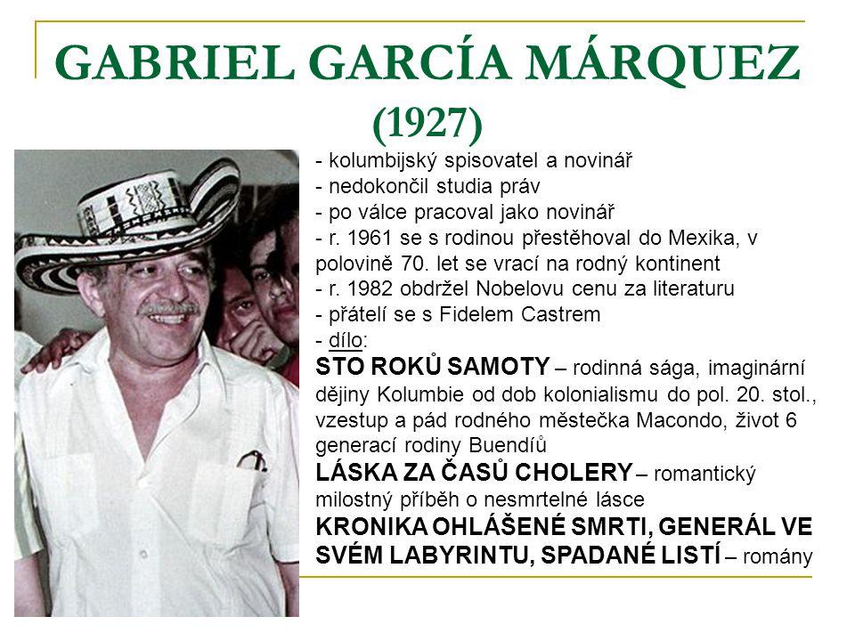 GABRIEL GARCÍA MÁRQUEZ (1927)
