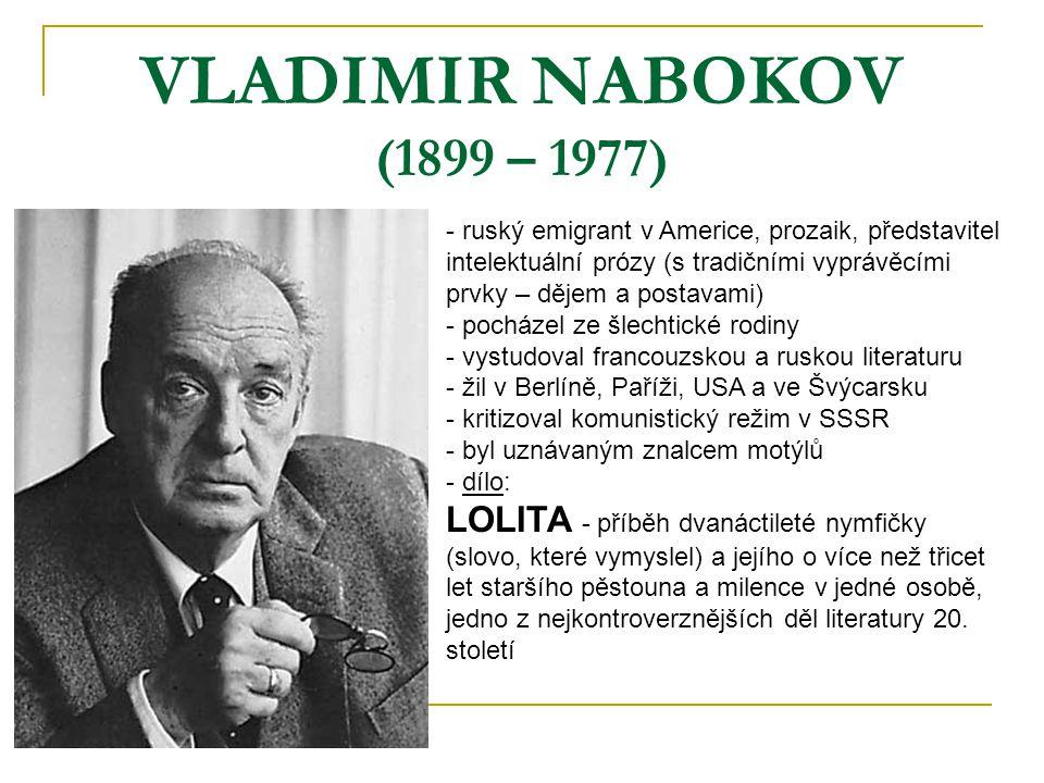 VLADIMIR NABOKOV (1899 – 1977)