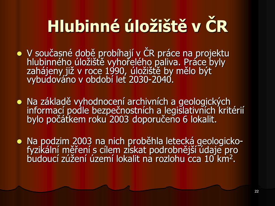 Hlubinné úložiště v ČR