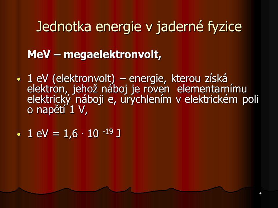 Jednotka energie v jaderné fyzice