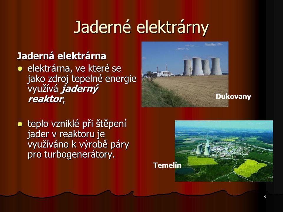 Jaderné elektrárny Jaderná elektrárna