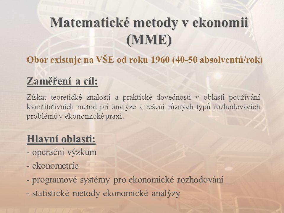 Matematické metody v ekonomii (MME)