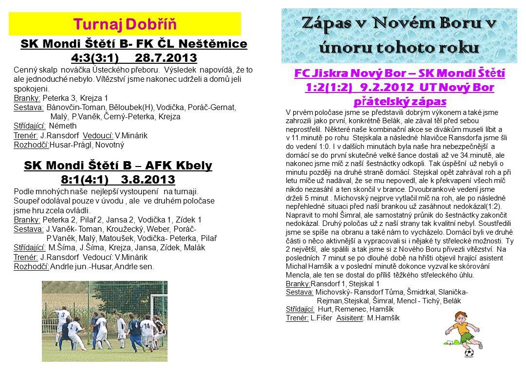 Zápas v Novém Boru v únoru tohoto roku