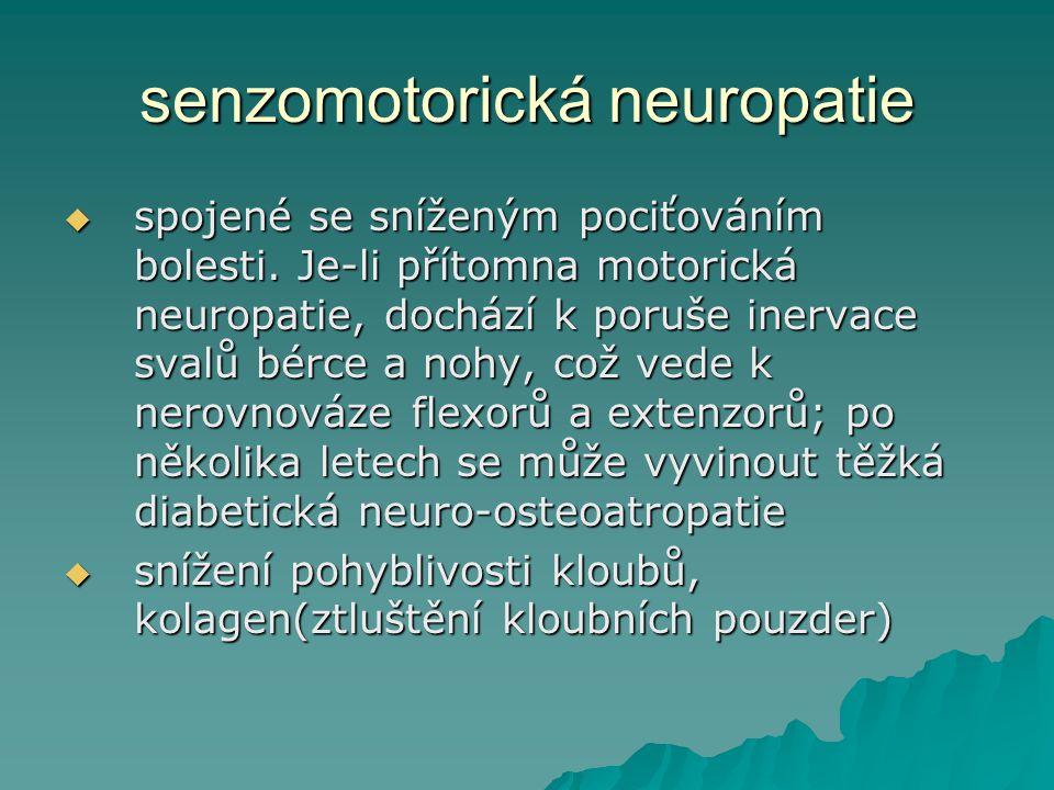 senzomotorická neuropatie