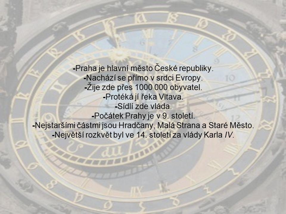 -Praha je hlavní město České republiky