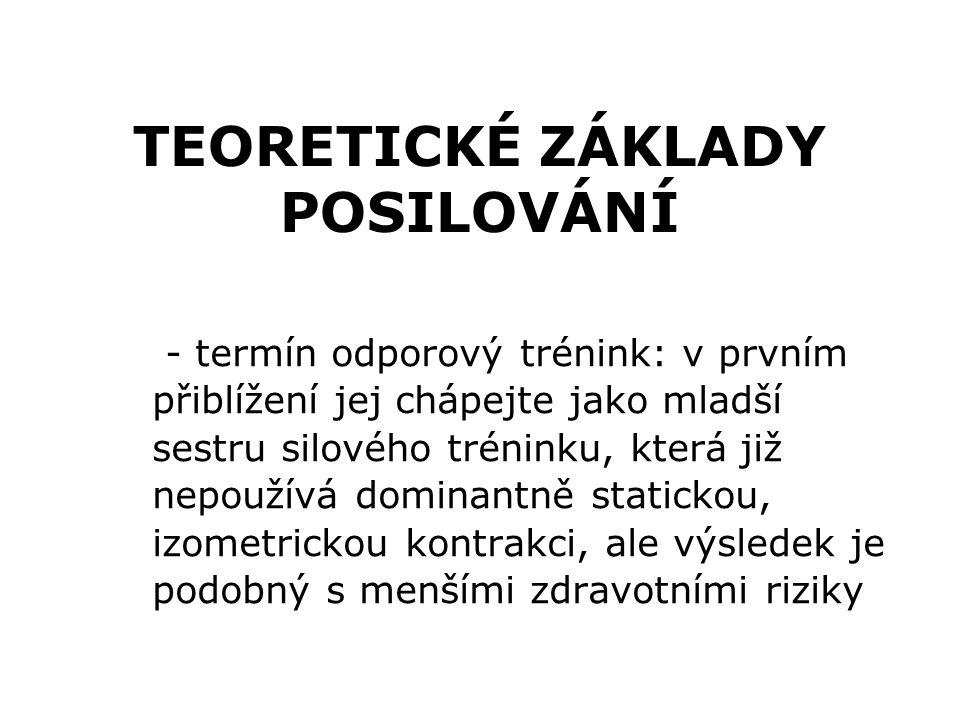 TEORETICKÉ ZÁKLADY POSILOVÁNÍ