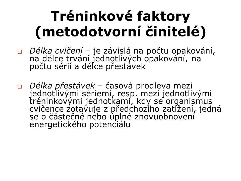 Tréninkové faktory (metodotvorní činitelé)
