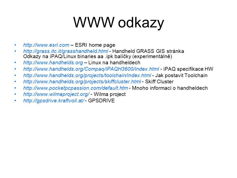 WWW odkazy http://www.esri.com – ESRI home page