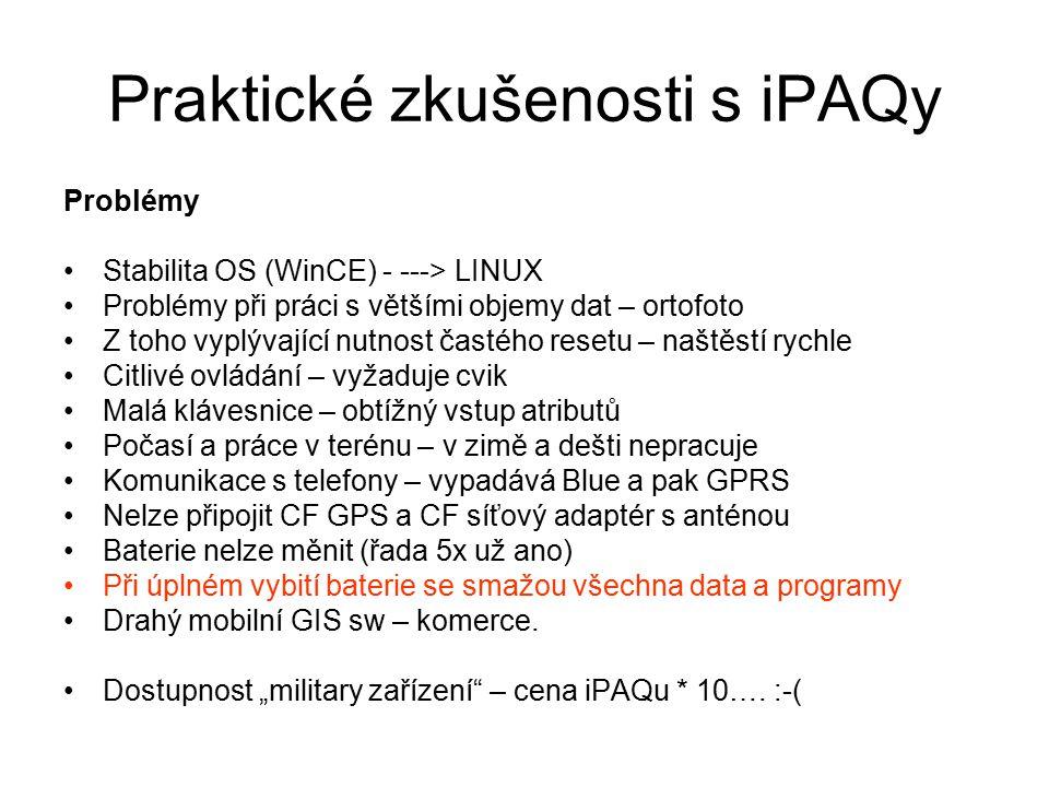 Praktické zkušenosti s iPAQy