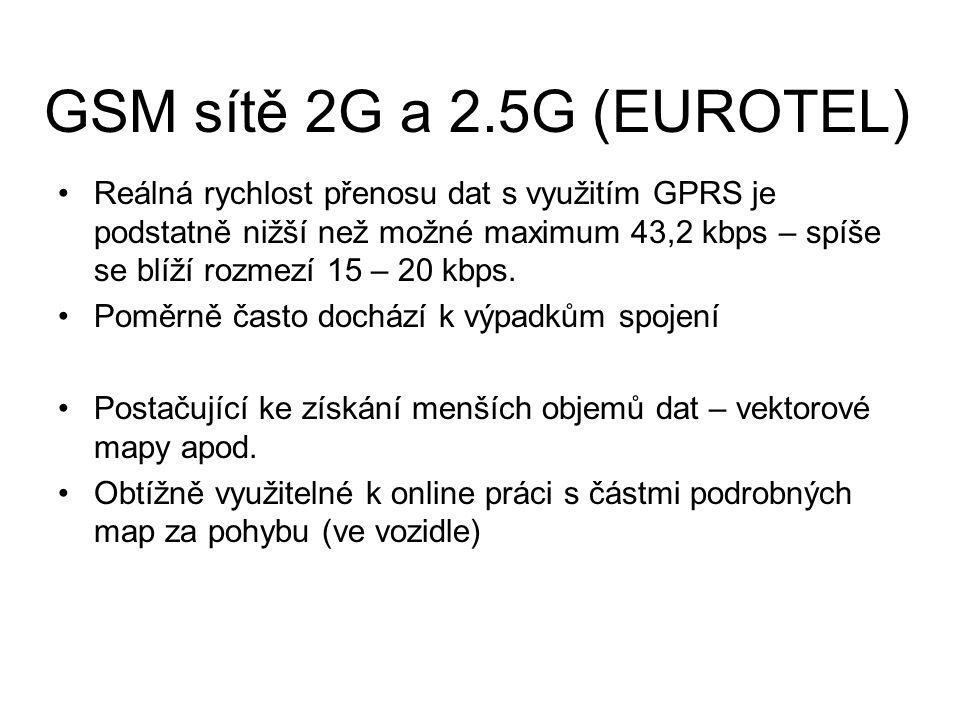 GSM sítě 2G a 2.5G (EUROTEL)