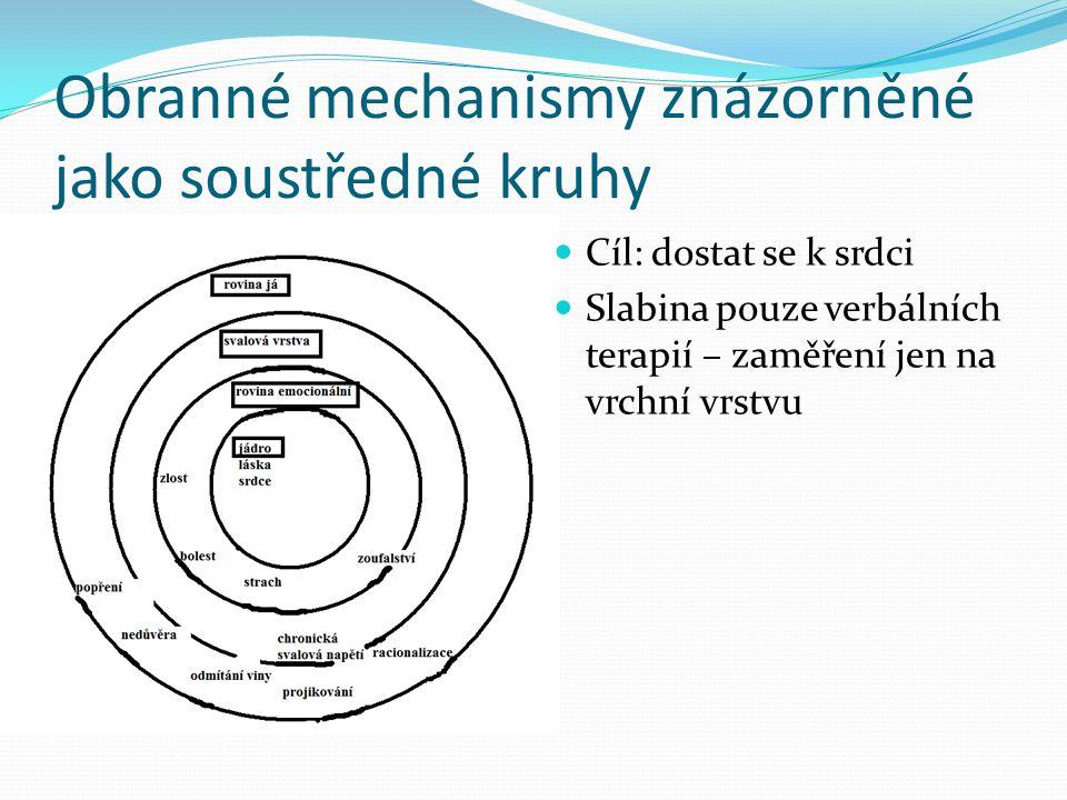 Obranné mechanismy znázorněné jako soustředné kruhy