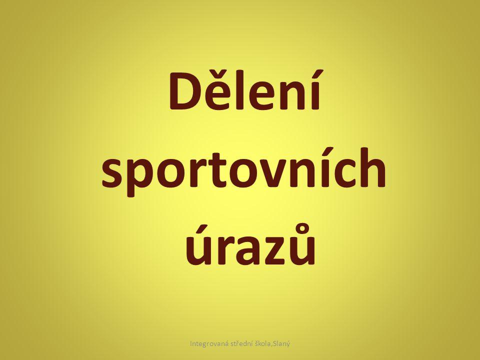 Dělení sportovních úrazů