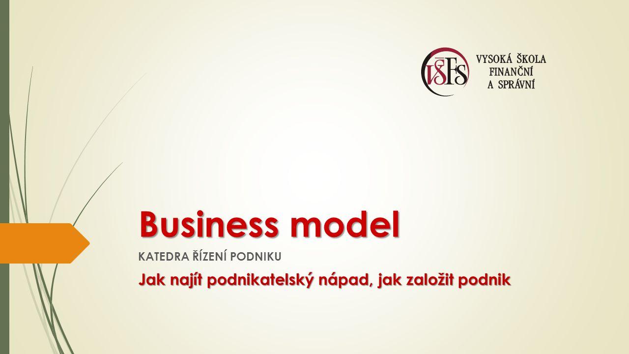 Business model Jak najít podnikatelský nápad, jak založit podnik