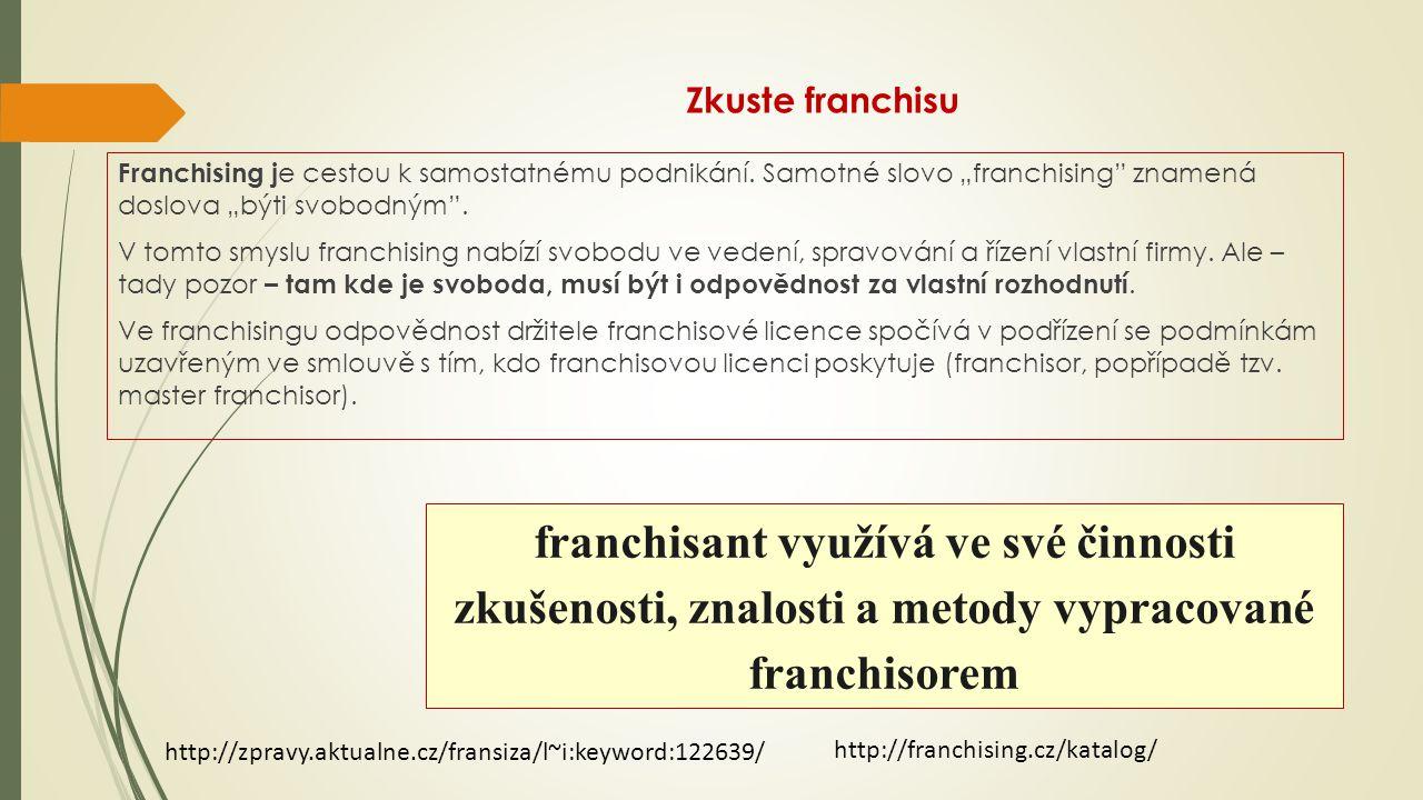 Zkuste franchisu