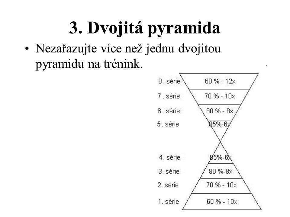 3. Dvojitá pyramida Nezařazujte více než jednu dvojitou pyramidu na trénink.