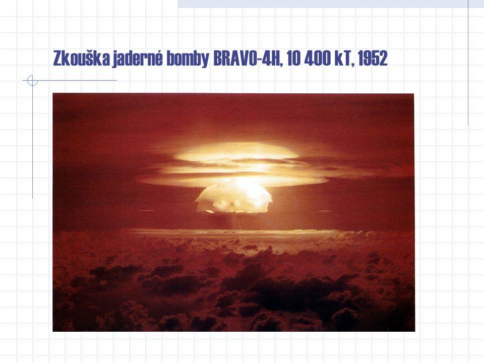 Zkouška jaderné bomby BRAVO-4H, 10 400 kT, 1952