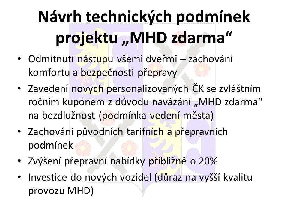 """Návrh technických podmínek projektu """"MHD zdarma"""