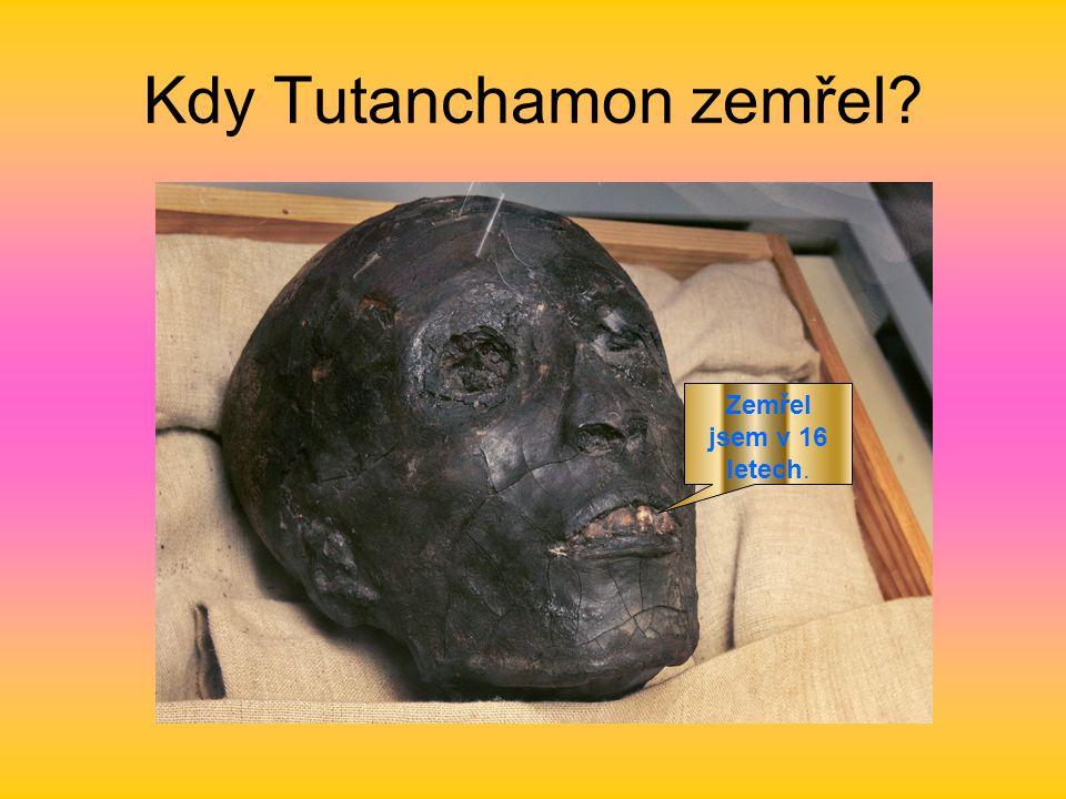 Kdy Tutanchamon zemřel