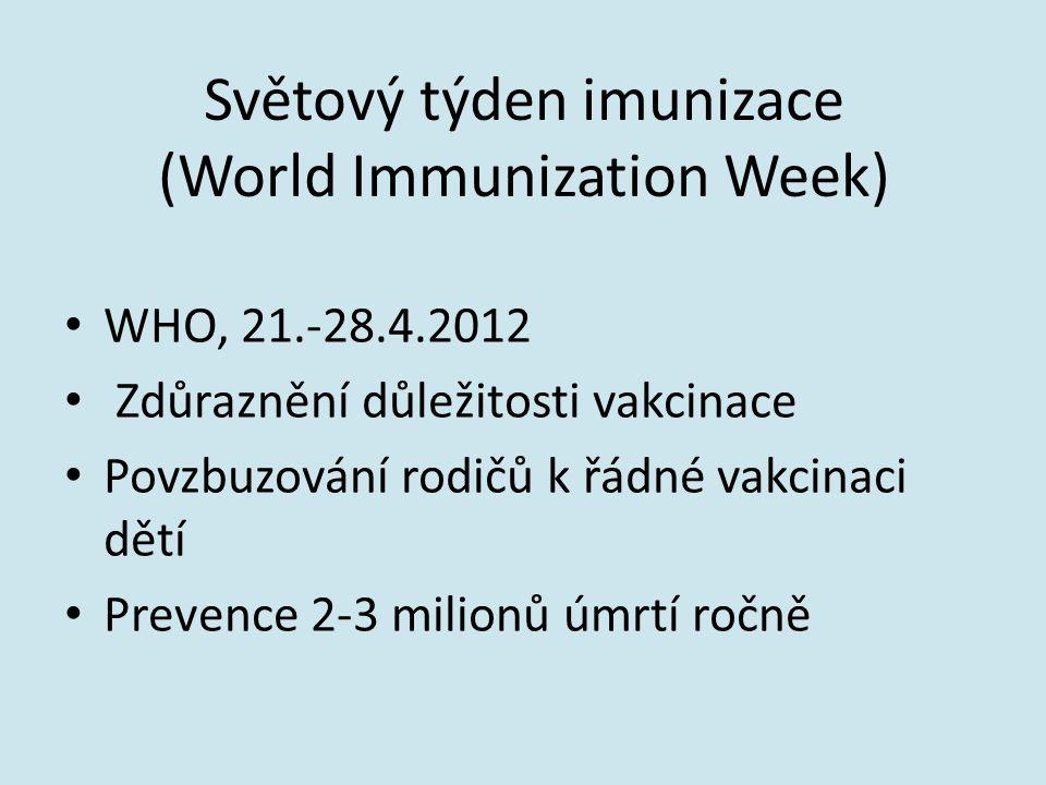 Světový týden imunizace (World Immunization Week)
