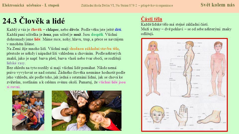 24.3 Člověk a lidé Části těla