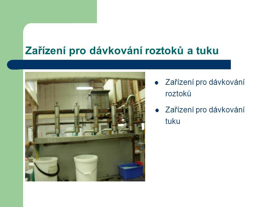 Zařízení pro dávkování roztoků a tuku