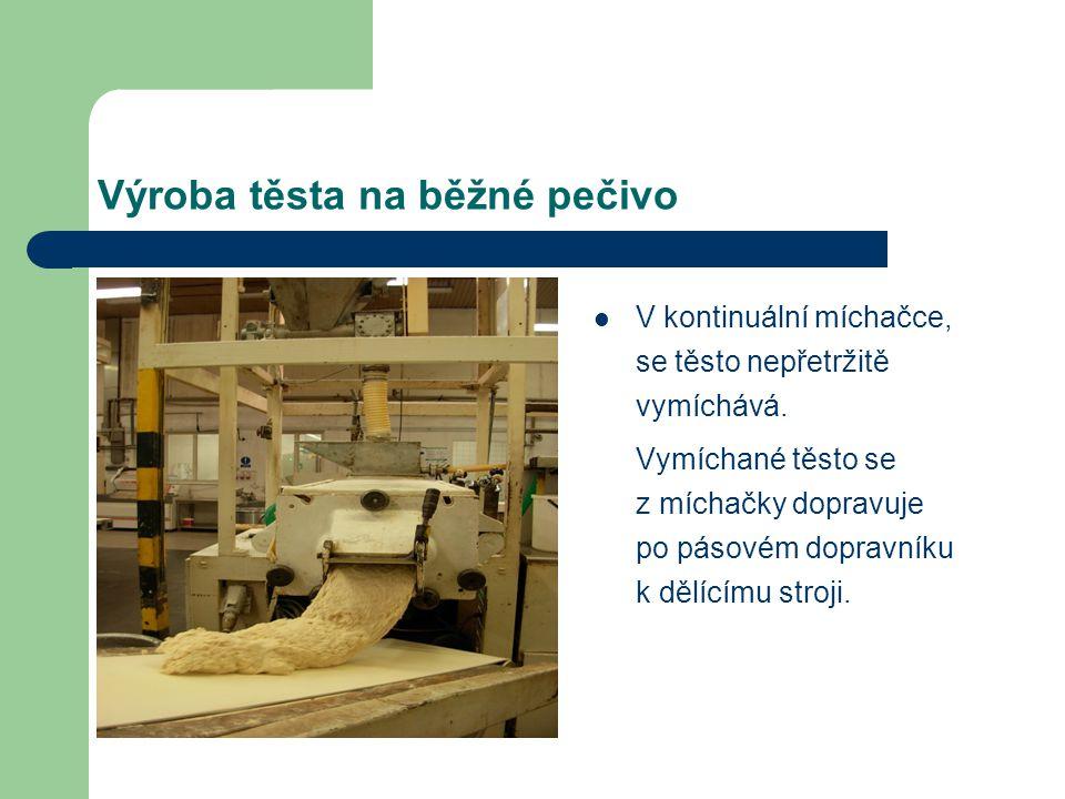 Výroba těsta na běžné pečivo