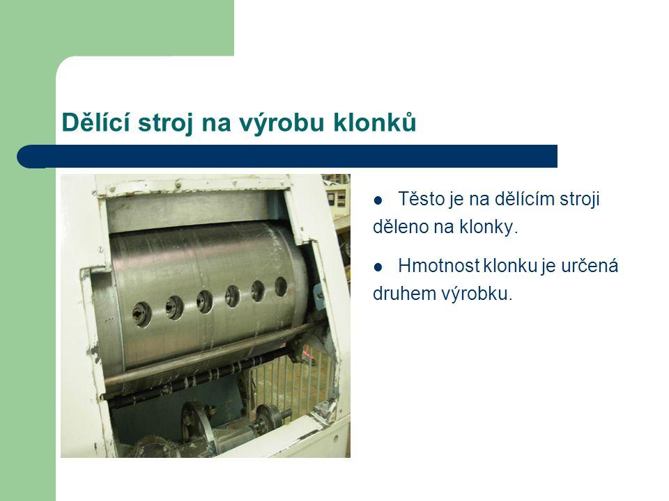 Dělící stroj na výrobu klonků